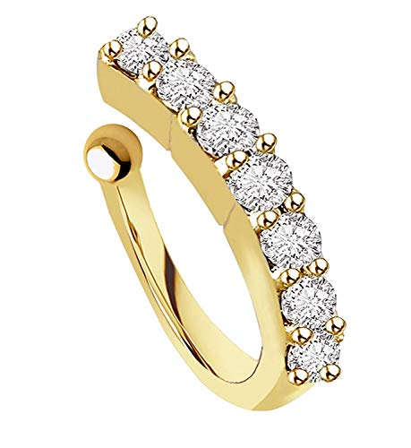 VAMA FASHIONS Gold Plated Maharashtrian Nath Clip on Combo Nose Ring Without Piercing for Women 6