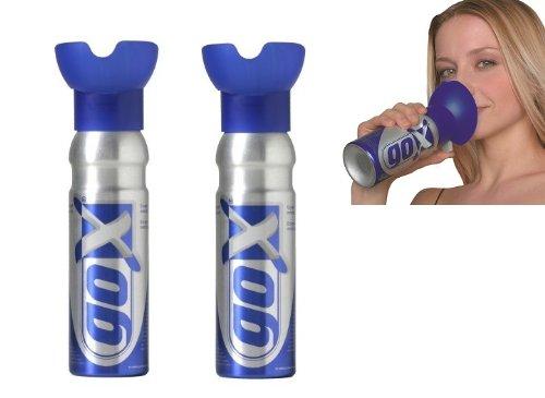 GOX - Lote de latas de oxígeno puro para relajación (2 unidades, 6 L)