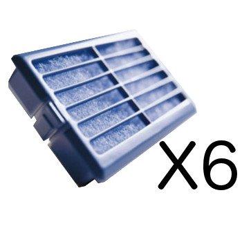 Whirlpool | Pacco da 6 - Microban ANT001, ANT-001, ANTF-MIC, 481248048172 - Filtro antibatterico per...
