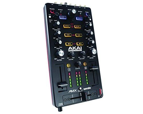 AKAI Professional AMX - DJ Mixer/Controller MIDI a 2 Deck con Crossfader, Potenziometri e Fader - Compatibile con Serato DJ - Portatile e Alimentato via USB