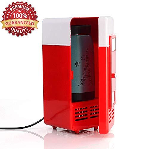 Lychee USB Frigorifero Portatile Piccolo da Ufficio, Minifrigo Refrigeratore/Riscaldatore...
