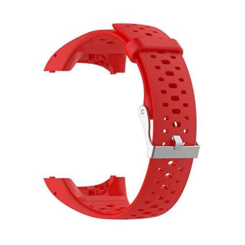 VIMOER, Morbido Cinturino di Ricambio per smartwatch Polar M400 M430, Cinturino in Silicone con Tracker Polar A360 A370, Red, for Polar M400 M430 Smart Watch