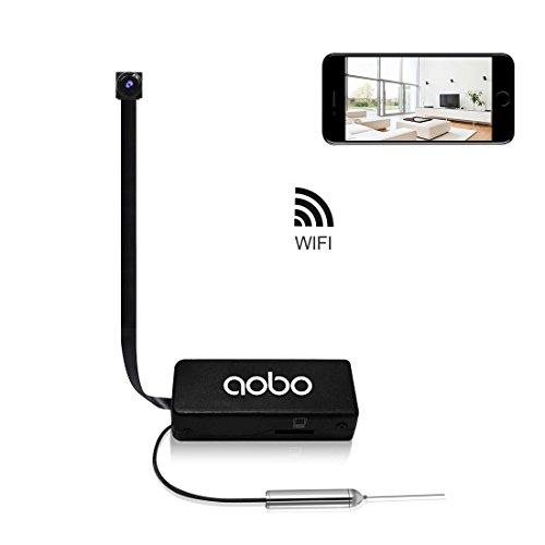 Mini Nascosta Telecamera Bottone AOBO 720P HD Microcamera Spia Portatile Interno/Esterno Wireless...