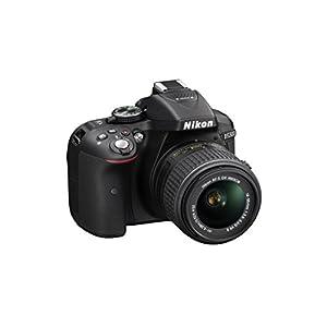 Nikon D5300 24.2MP Digital SLR Camera (Black) with AF-P 18-55mm f/ 3.5-5.6g VR Kit Lens, Card and Camera Bag