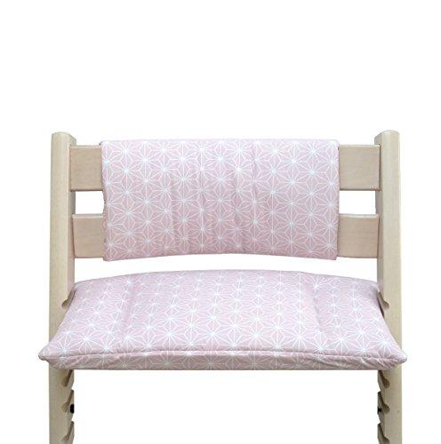 Blausberg Baby - Cuscino per sedia cuscino imbottito Set Junior per Stokke Tripp Trapp Seggiolone (senza la fessura cuscino) - Happy Star Rosa