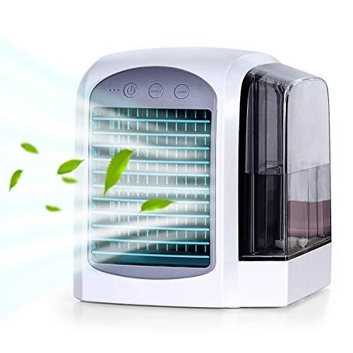 iLogoTech Aggiornato 3 in 1 Mini Condizionatore Portatile, Raffrescatore d'aria Evaporativo, Aria...
