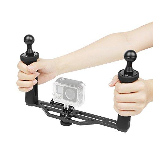 SHOOT Alluminio Subacquea Bracci Stabilizzatori con Ball Diametro 2,5 cm per Supporto a luce Compatibile GoPro OSMO con 1/4'buco della vite