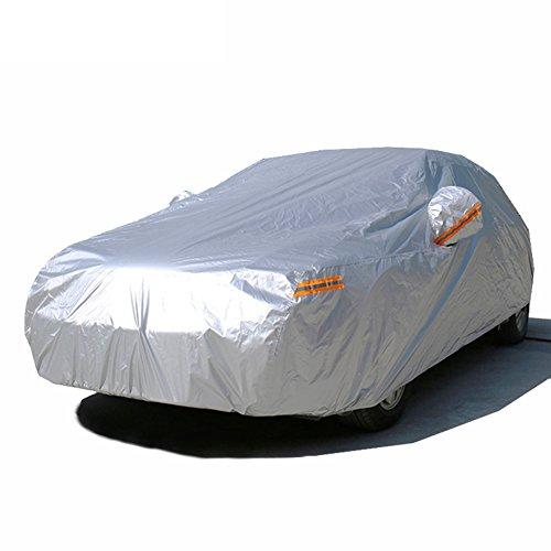 Kayme autoabdeckung vollgarage wasserdicht Sonnenschutz Stoff XXL für Winter & Sommer Indoor Outdoor Größe (510x200x180CM) Passend für Geländewagen SUV YXL