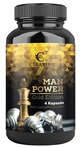 Ciraxin - Man Power (Das Original) | Natürliche aber extreme Unterstützung | 4 Kapseln | 1 Dose