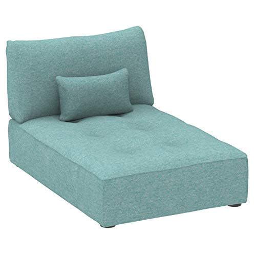 Marchio Amazon -Alkove Elvas - Divano Modulare - Modulo chaise longue con vano contenitore e...