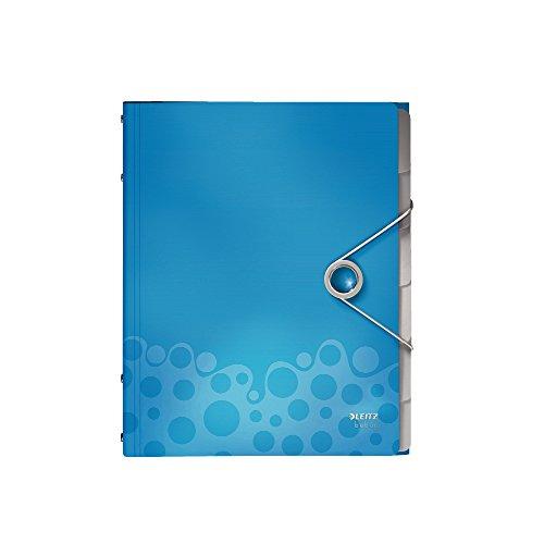 Leitz 45690037 Bebop Ordnungsmappe (Polypropylen, Mit Gummizug, A4) blau