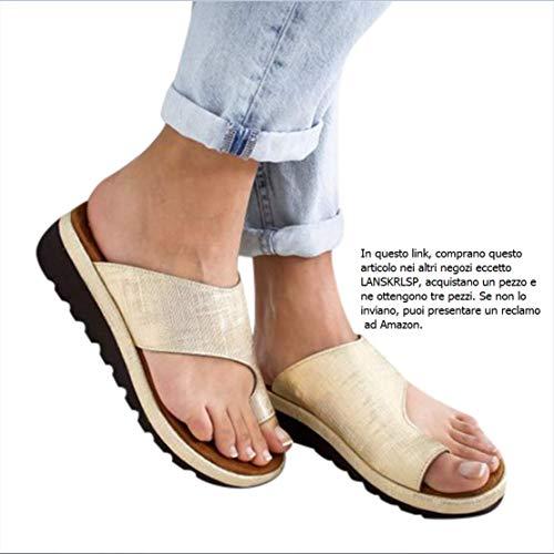 LANSKRLSP Donne Comfy Piattaforma Sandalo della Spiaggia di Estate di Viaggio Scarpe di Moda Sandali...