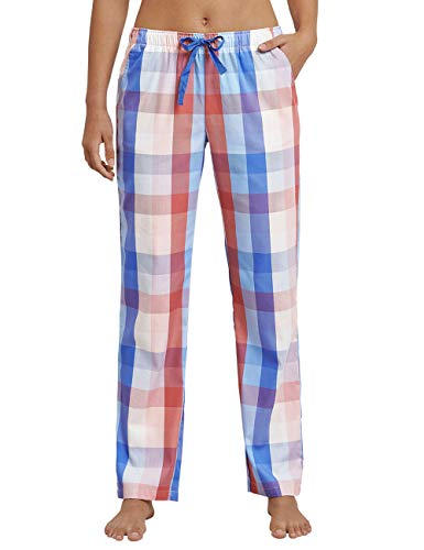 Schiesser Damen Mix & Relax Webhose lang Schlafanzughose, Mehrfarbig (Multicolor 1 904), 40 (Herstellergröße: 040)