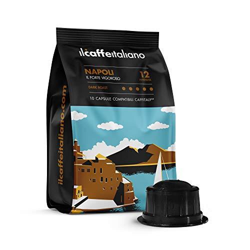 FRHOME - Caffitaly 100 Capsule compatibili - Il Caffè Italiano - Miscela Napoli Intensità 12