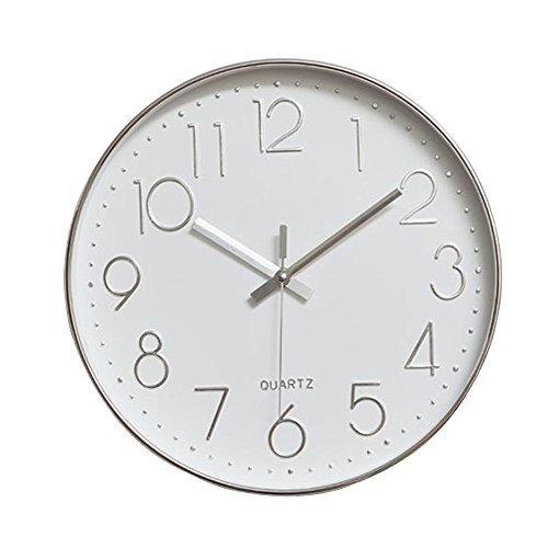 30 cm Orologio da Parete in Legno con Funzione Luce Notturna, Stile Rustico, Rustico, per Cucina, Ufficio, casa, Silenzioso e Senza ticchettio, Funzionamento a Batteria(Grandi numeri 3D )