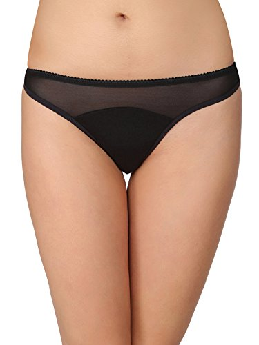 Clovia Cotton Low Waist Thong with Powernet at Waist 4