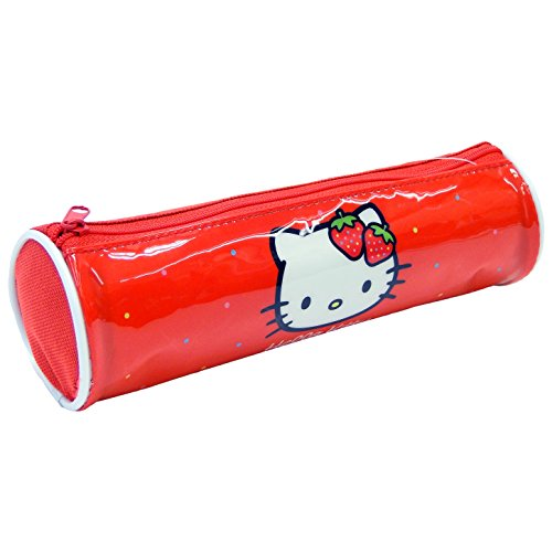 Hello Kitty Estuche Tela Cilindro Hello Kitty Astuccio 22 centimeters Multicolore (Multicolor)