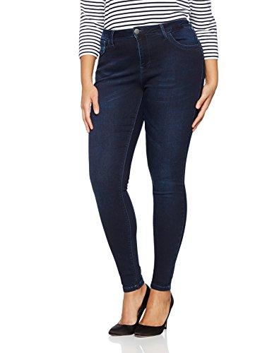 Zizzi Damen Amy Jeans Skinny Jeans, per Pack Blau (Dark Blue 1079), 50...