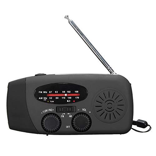 Ebuy IndiaÃ'1000Mah Emergency Hand Crank Generator Solar AmFmWb Radio Flashlight Charger