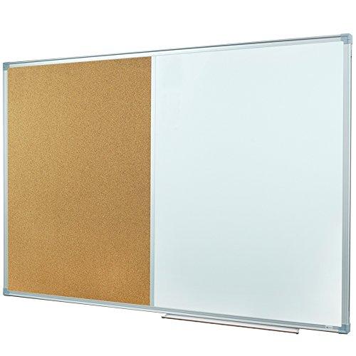 lockways lavagna & Nota bacheca combinazione–80x 110cm cornice in alluminio argento