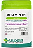 Lindens Vitamin B5 500mg Tablets | 360 Pack | 8000% NRV dose contributes Towards Mental Performance, Normal Metabolism & Reduction of Tiredness