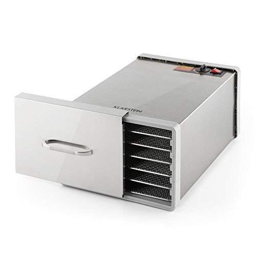 Klarstein Fruit Jerky Pro 6 • apparecchio disidratatore • essiccatore • 630 Watt • 6 piani...
