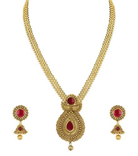 Zaveri Pearls Modern Style Necklace Set For Women - ZPFK4871