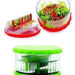 Sell ON New Arrival Garlic, Chilli and Dryfruits Multi Crusher Chopper Combo of Plastic Transparent Multi Vegetable Crusher/Grinder/Cutter and 2 in 1 Cutter/Knife/Chopper (Green/2 in 1 Cutter Combo) 22