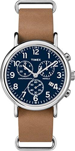 Timex Damen Chronograph Quarz Uhr mit Leder Armband TW2P62300