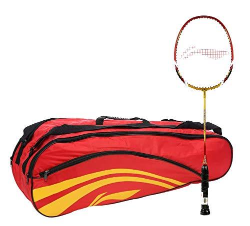 Li-Ning Combo (Li-Ning Smash 90 XP II Racquet with Li-Ning ABDJ118 Red Kit Bag)