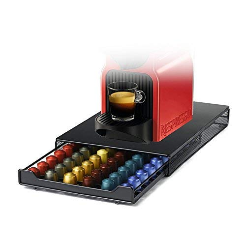 Cassetto Porta Capsule,HiveNets per Nespresso in Metallo ,Capacità 60 Pcs