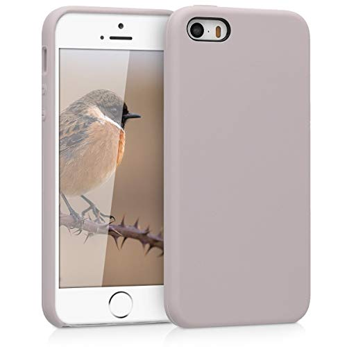 kwmobile Apple iPhone SE / 5 / 5S Hülle - Handyhülle für Apple iPhone SE / 5 / 5S - Handy Case in Helltaupe