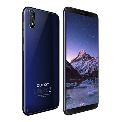 CUBOT J3 Dual SIM Smartphone 12,63 cm (5 Pulgadas) Full-Wide VGA TN Touch Display, 16 GB de Memoria Interna, Android 8.1 Oreo (Go Edition) Teléfono Móvil Cámara de 8MP+5MP,Face ID, GPS/A-GPS (Azul)