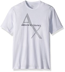Armani-Exchange-8nzt76-Camiseta-para-Hombre-Blanco-White-1100-Small