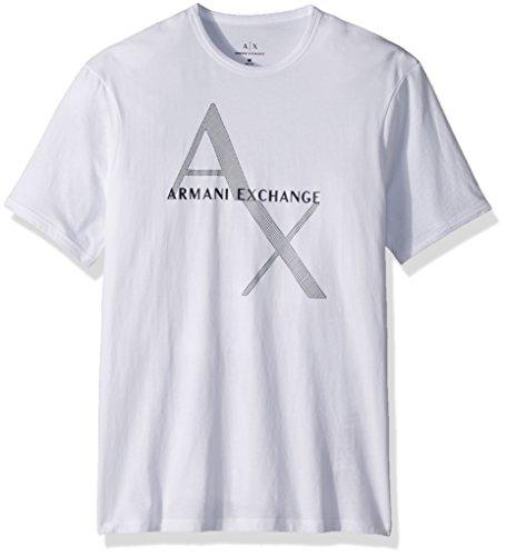 Armani-Exchange-8nzt76-Camiseta-para-Hombre-Blanco-White-1100-X-Small