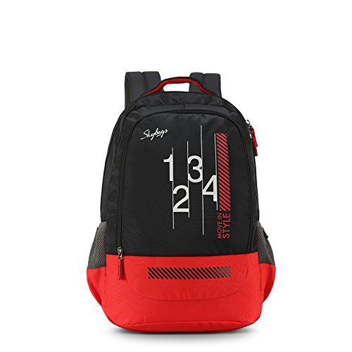 Skybags Luke 27 Ltrs Black School Backpack (SBLUK01BLK)