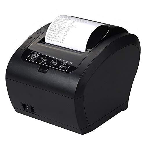[Aggiorna 2.0] 80mm Stampante termica Auto-Cut Supporto Cassetto 230mm/sec MUNBYN Diretta con USB...