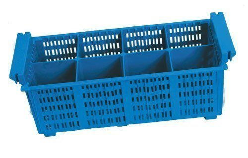 my-gastro Gastro LAVAGGIO POSATE 8fach besteckbehälter BLU Posate Cestino