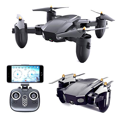Droni Portatili con videocamera HD, Selfie Pocket Drone con Altitude Hold, One Key...