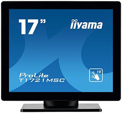 liyama ProLite T1721MSC-B1 43 cm (17 Zoll) LED-Monitor SXGA 10 Punkt Multitouch kapazitiv (VGA, DVI, USB für Touch, IP3) schwarz