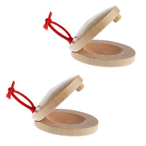 Una Coppia Nacchere Di Legno Di Legno A Percussione Strumento Musicale Flamenco