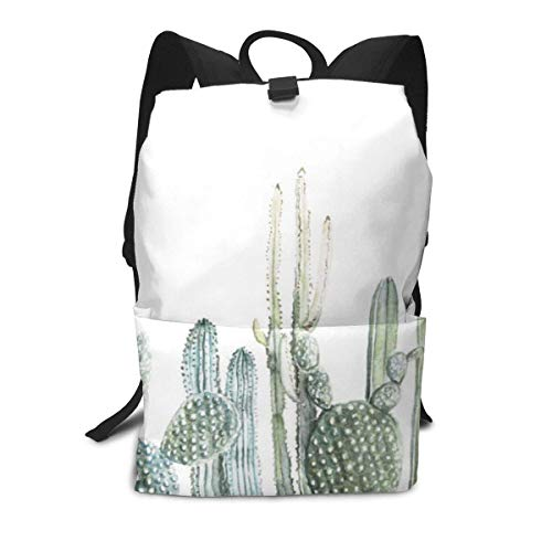 Homebe School Zaino Scuola, Cartella per Laptop,Borsa Viaggio For Adult Boys Girls Kids, Cactus...