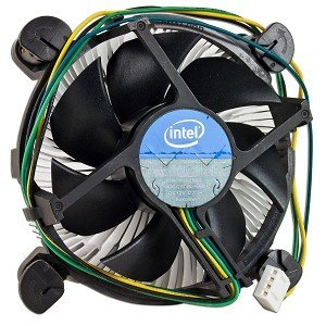 Intel Original Heatsink Fan Cooler E97379-001 for Socket LGA1155 for cleron i3 i5 i7 3.30 GHz (Black)