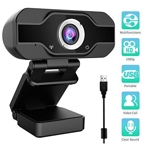 Aiglam Webcam 1080P, Full HD con Microfono Stereo elecamera PC Microfoni Audio Stereo ridurre Il...