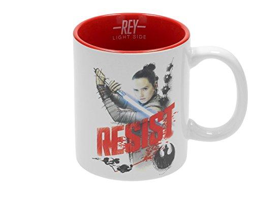Star Wars Taza con Una Imagen de Rey, Cerámica, Multicolor, 8 cm