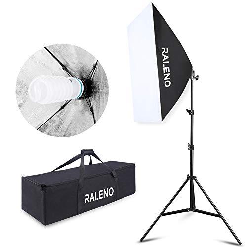Softbox Kit di Illuminazione, RaLeno 800W 50x70cm Soft Box con E27 Presa Elettrica per Ritratto da...