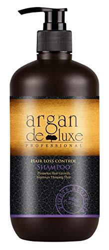 Arganöl Haarwachstums Shampoo in Friseur-Qualität  Effektiv gegen Haarausfall  Stärkend, Regenerierend, Wachstumsfördernd  Argan DeLuxe, 300ml
