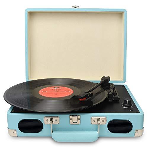 DIGITNOW! Portatile Giradischi a 3 Velocità(33 1/3, 45 e 78 Giri), Stile Retro a Vinyl Giradischi...