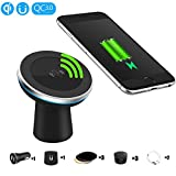 [360 gradi]EooCoo Caricatore per auto wireless magnetico, Caricatore Wireless Qi per iPhone 8 / 8 Plus / X ,per Samsung Glaxy Note 8/S8/S8 Plus e Tutti i Dispositivi Qi-Enabled