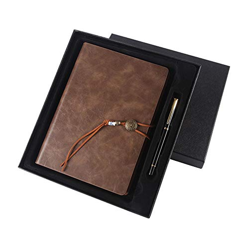 Leather Travel Diario individuale Organizzatore Business Notebook A smart -leaf office meeting...